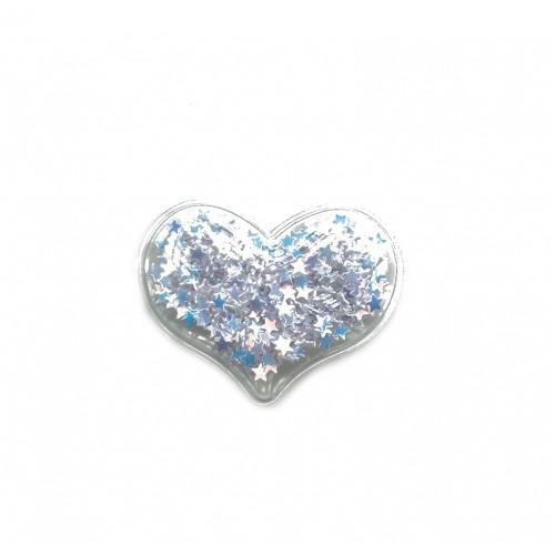 Патч силиконовый Сердце со звездами Голубое, фото