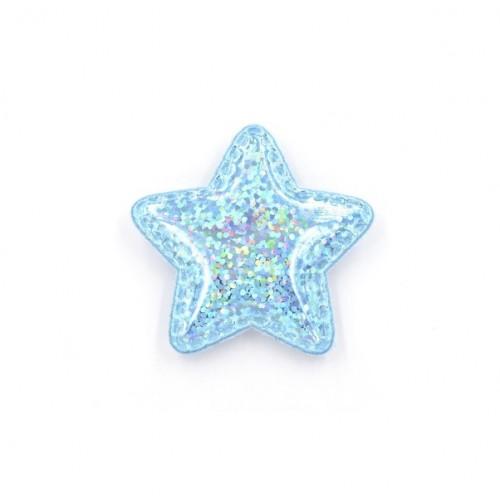 Патч лаковый звезда Голубая shine, фото