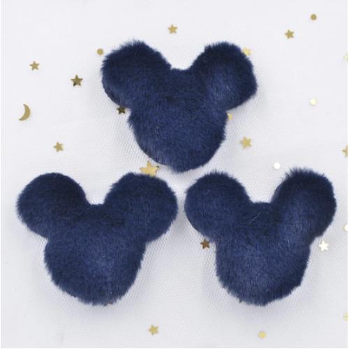 Патч меховой Микки Маус синий, фото
