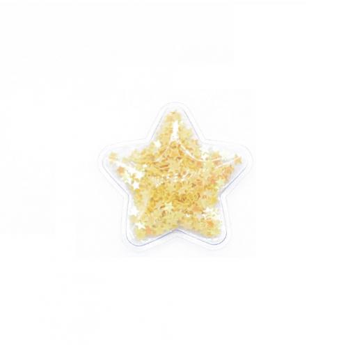 Патч силиконовый Звезда со звездами Желтыми, фото