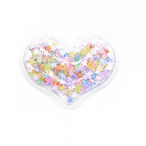 Патч силиконовый Сердце со звездами Ассорти, фото
