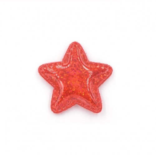 Патч лаковый звезда Красная shine, фото