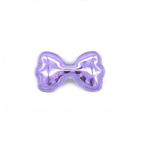 Патч лаковый Бант фиолетовый фото