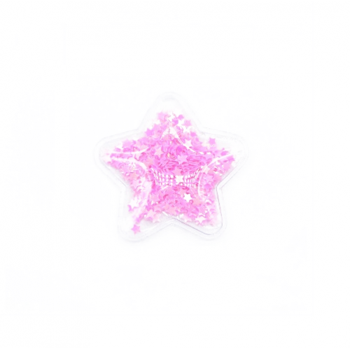 Патч силиконовый Звезда со звездами Розовыми, фото