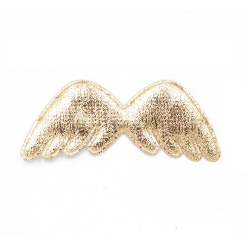 Патч Крылья золото 78х32 мм фото