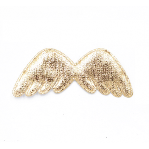 Патч Крылья золото, 78х32 мм