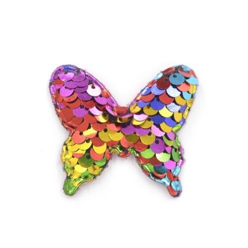 Патч бабочка с пайетками ассорти, фото
