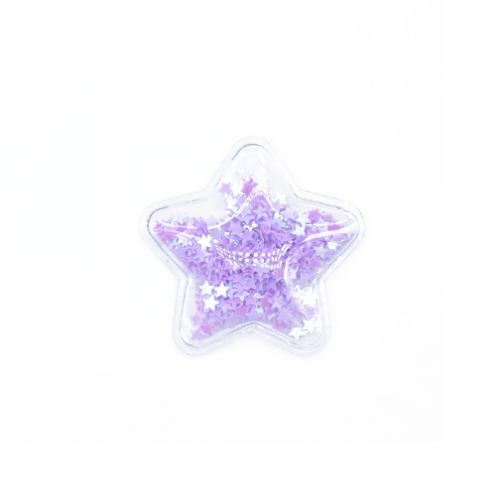 Патч силиконовый Звезда со звездами Фиолетовыми, фото