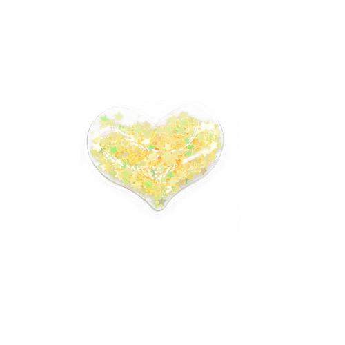 Патч силиконовый Сердце со звездами Желтыми, фото