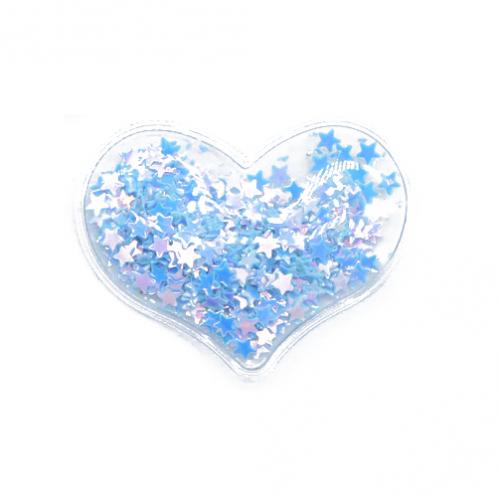 Патч силиконовый Сердце со звездами Синими, фото