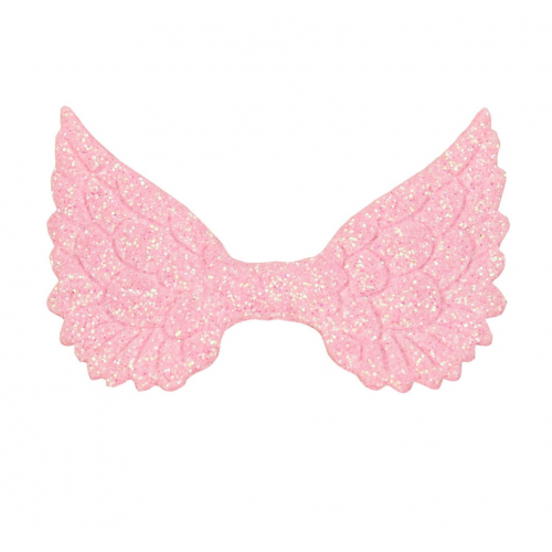 Патч Крылья с глиттером розовые, фото