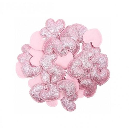 Патч Сердце розовое, 3х3 см