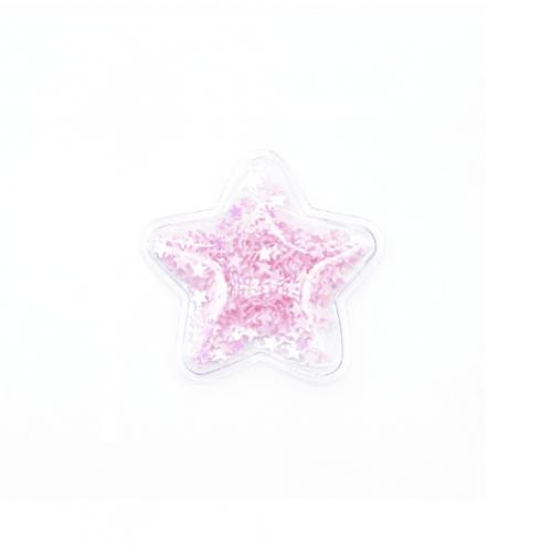 Патч силиконовый Звезда со звездами светло-розовыми, фото