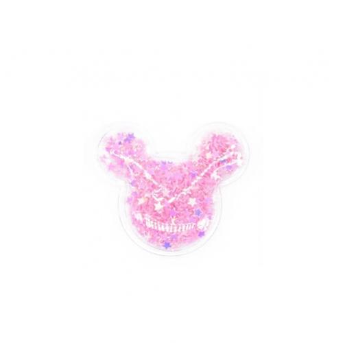 Патч силиконовый Микки Маус со звездами Розовый, фото