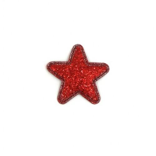 Патч Звезда красная, 2,4х2,4 см