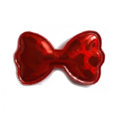 Патч лаковый Бант красный, фото