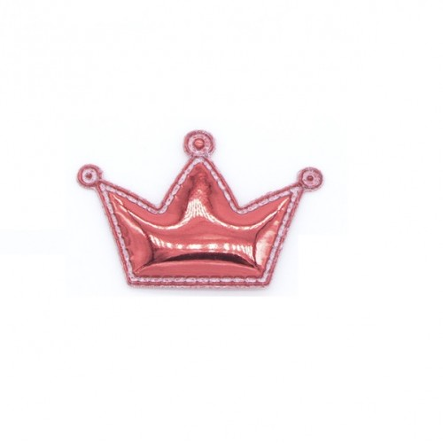 Патч лаковый Корона красная
