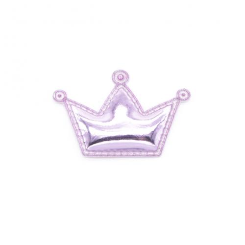 Патч лаковый Корона розовая