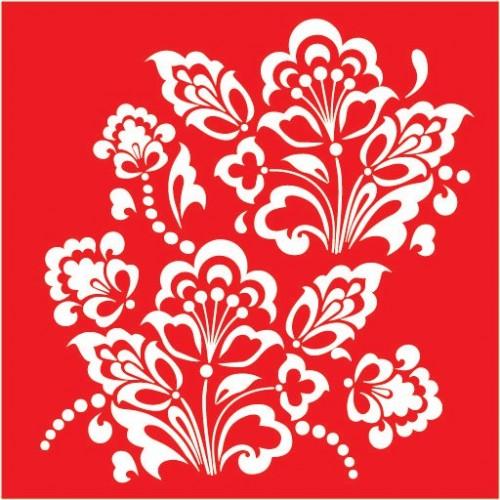 Трафарет Цветок 5, 18х18 см