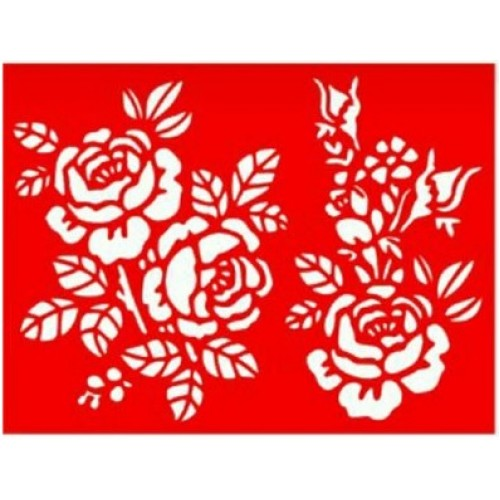 Трафарет Розы, 15х20 см