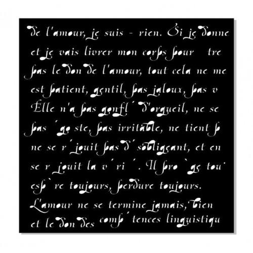 Трафарет Французский текст фото
