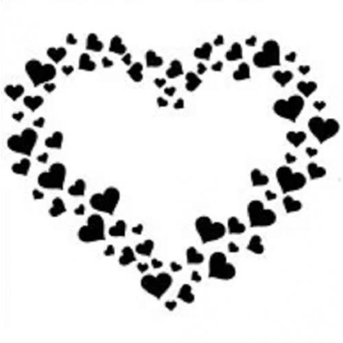 Трафарет Сердце из сердец, 13х13 см