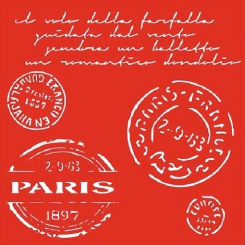 Трафарет Париж, 18х18 см
