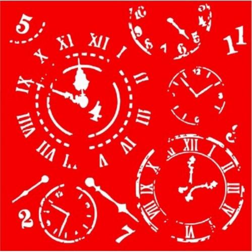 Трафарет Часы, 18х18 см