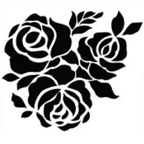 Трафарет Роза, 13х13 см