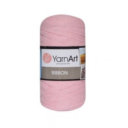 Трикотажная пряжа YarnArt Ribbon Розовый №762 фото