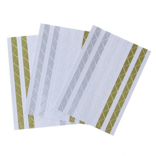 Самоклеющиеся уголки для фото Золото/Серебро/Белый, 102 шт