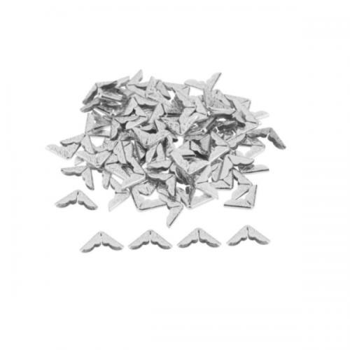 Уголок для альбома с вензелями серебро