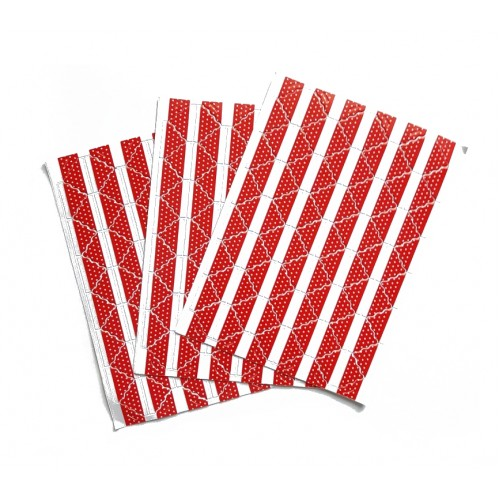 Самоклеющиеся уголки для фото Красные №2, 78 шт