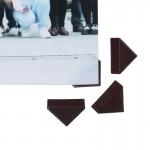 Самоклеющиеся уголки для фото Коричневые, 102 шт