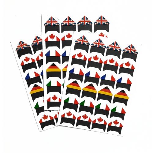 Самоклеющиеся уголки для фото Флаги, 24 шт