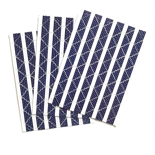 Самоклеющиеся уголки для фото Темно-синие, 78 шт