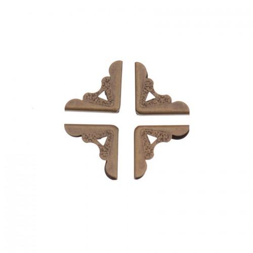 Уголок металлический фигурный  №10, бронза