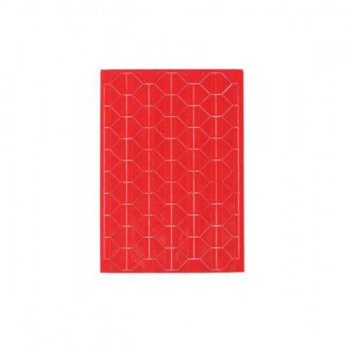 Самоклеющиеся уголки для фото Красные, 102 шт
