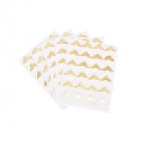 Самоклеющиеся уголки для фото белые золото, 24 шт