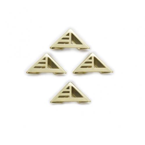 Уголок металлический фигурный №12, золото