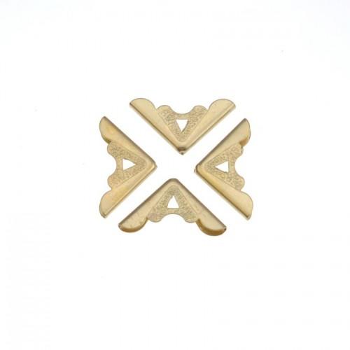 Уголок металлический фигурный №3, золото