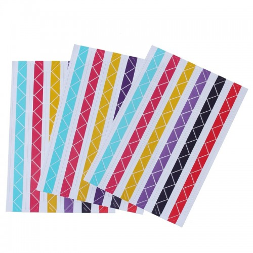 Самоклеющиеся уголки для фото Разноцветные, 102 шт