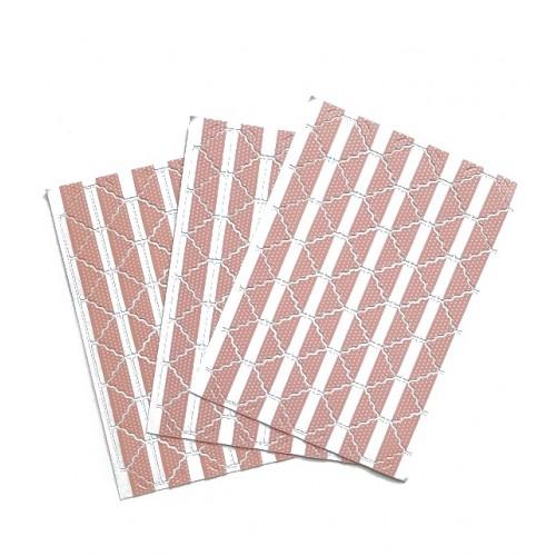 Самоклеющиеся уголки для фото Розовые, 78 шт