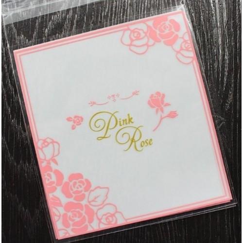 """Пакет для подарка """"Pink Rose"""" 10*10 см"""