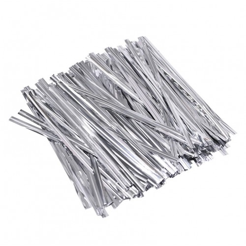 Зажим для пакетов серебро, 50 шт