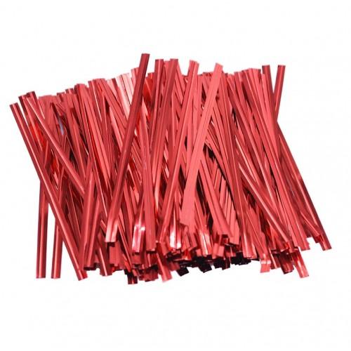Зажим для пакетов красный, 50 шт