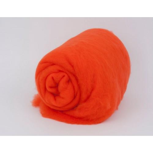 купить шерсть для валяния кардочесанную темно-оранжевую ROSA TALENT
