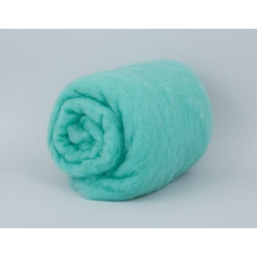 купить шерсть для валяния кардочесанную бирюзовую ROSA TALENT