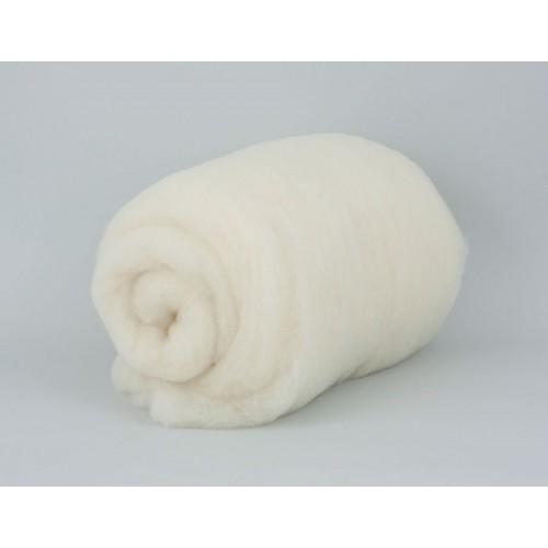 купить шерсть для валяния кардочесанную белую ROSA TALENT