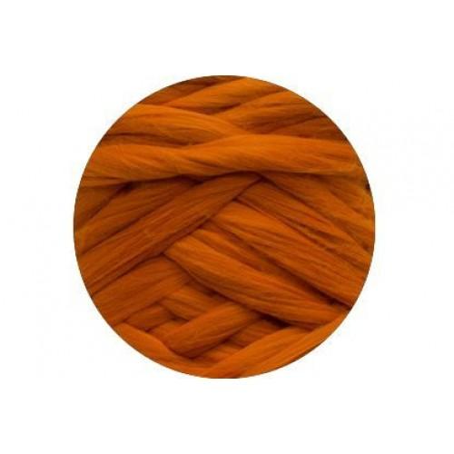 Шерсть для валяния 012 морковный, 50г